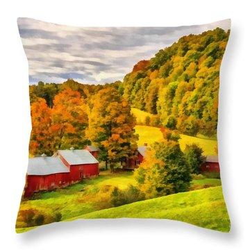 Jenne Farm Vermont Painting Throw Pillow