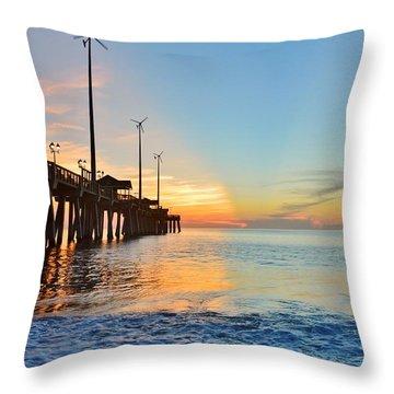 Jennette's Pier Aug. 16 Throw Pillow