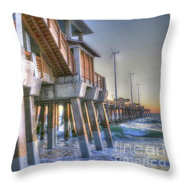 Jennette's Pier Throw Pillow
