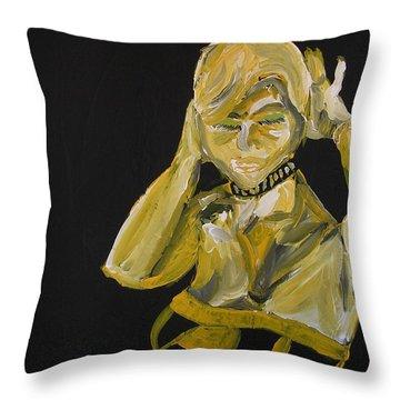 Jennifer Throw Pillow by Joshua Redman