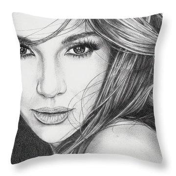 Jennifer Lopez Throw Pillow
