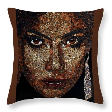 Jennifer Lopez Throw Pillow