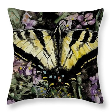 Jennifer's Delight Throw Pillow by Laneea Tolley
