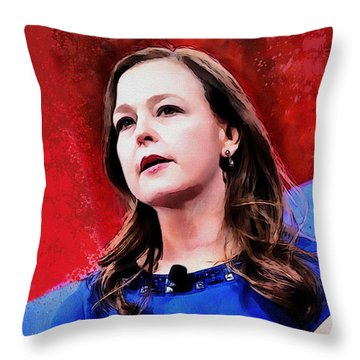 Jenny Beth Martin Throw Pillow