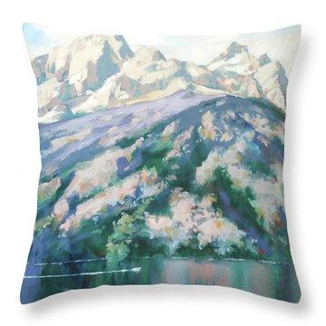 Jenny Lake Throw Pillow by Carol Strickland
