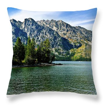 Jenny Lake Throw Pillow by Greg Norrell
