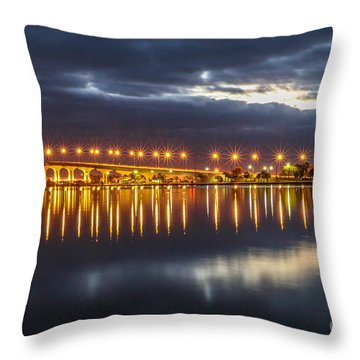 Jensen Beach Causeway #5 Throw Pillow