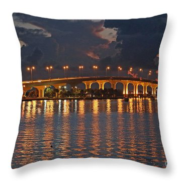 Jensen Beach Causeway Throw Pillow