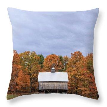Jericho Hill Vermont Barn Throw Pillow