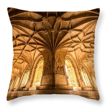Jeronimos Monastery Lisbon Throw Pillow