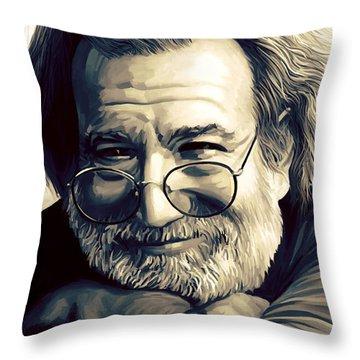 Jerry Garcia Artwork  Throw Pillow