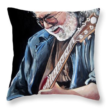 Jerry Garcia - The Grateful Dead Throw Pillow