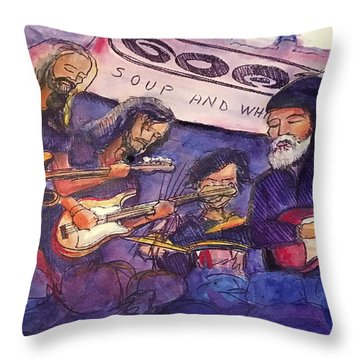 Jerry Joseph And The Jackmormons Throw Pillow by David Sockrider