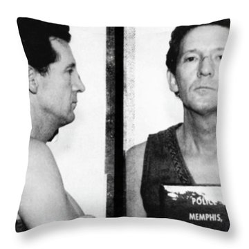 Jerry Lee Lewis Mug Shot Horizontal Throw Pillow