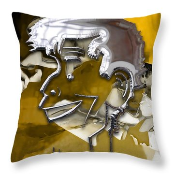 Throw Pillow featuring the mixed media Jerry Lewis Comedian by Marvin Blaine