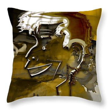Throw Pillow featuring the mixed media Jerry Lewis Comedy by Marvin Blaine