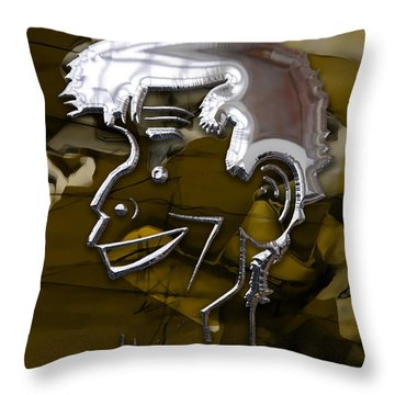 Throw Pillow featuring the mixed media Jerry Lewis Entertainer by Marvin Blaine