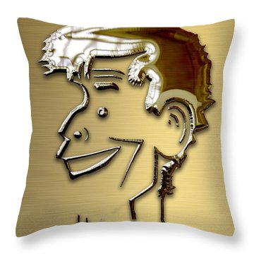 Throw Pillow featuring the mixed media Jerry Lewis Tribute by Marvin Blaine