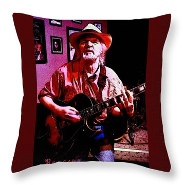 Throw Pillow featuring the photograph Jerry Miller - Moby Grape Man 1 by Sadie Reneau