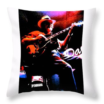Throw Pillow featuring the photograph Jerry Miller - Moby Grape Man 2 by Sadie Reneau