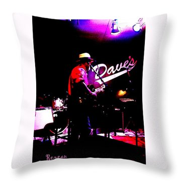 Throw Pillow featuring the photograph Jerry Miller - Moby Grape Man 3 by Sadie Reneau