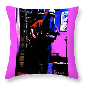 Throw Pillow featuring the photograph Jerry Miller - Moby Grape Man 4 by Sadie Reneau