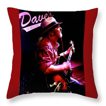 Throw Pillow featuring the photograph Jerry Miller - Moby Grape Man 5 by Sadie Reneau