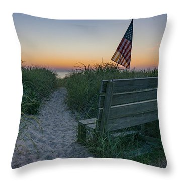 Jerry's Bench Throw Pillow
