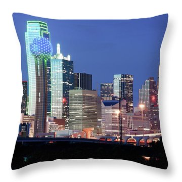 Jerry's Dallas Skyline Throw Pillow