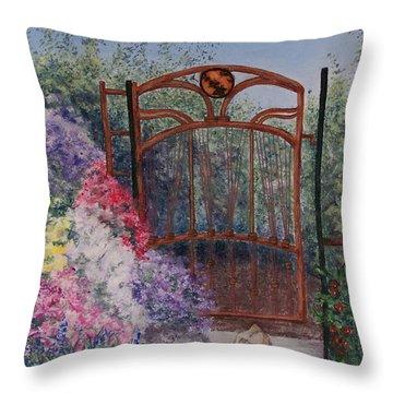 Jerrys Garden Throw Pillow