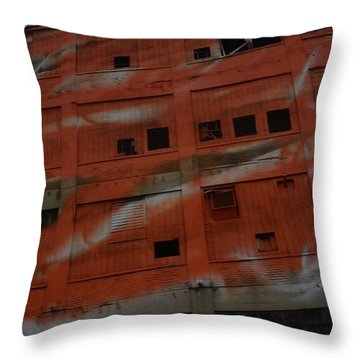 Jersey Building Trainview Throw Pillow