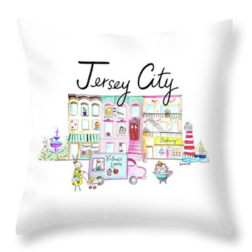 Jersey City Throw Pillow by Ashley Lucas