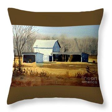 Jersey Farm Throw Pillow by Donald Maier