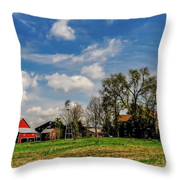 Throw Pillow featuring the photograph Jersey Jerrys Apple Farm by Louis Dallara