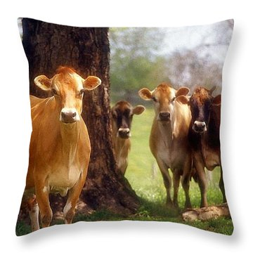 Jersey Lookers Throw Pillow