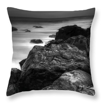 Jersey Shore At Night Throw Pillow by Paul Ward