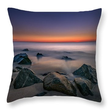 Jersey Shore Tranquility Throw Pillow
