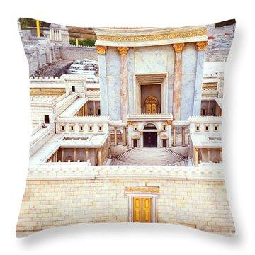 Jerusalem 70 Ad Throw Pillow by Thomas R Fletcher