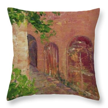 Jerusalem Alleyway Throw Pillow