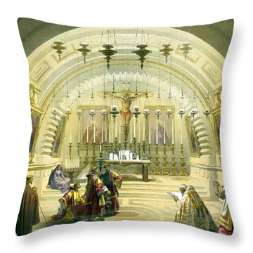 Jerusalem Calvery Throw Pillow