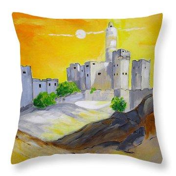 Jerusalem City Of Gold Throw Pillow