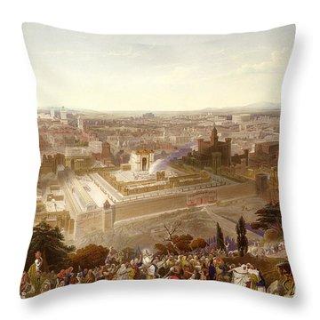 Jerusalem In Her Grandeur Throw Pillow