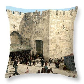 Jerusalem: Jaffa Gate Throw Pillow by Granger