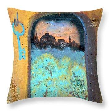 Jerusalem Key Throw Pillow