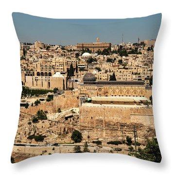 Throw Pillow featuring the photograph Jerusalem by Mae Wertz