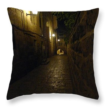 Throw Pillow featuring the photograph Jerusalem Of Copper 2 by Dubi Roman