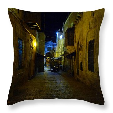 Throw Pillow featuring the photograph Jerusalem Of Copper 3 by Dubi Roman