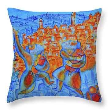 Jerusalem Of Gold Throw Pillow