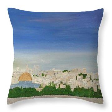 Jerusalem Skyline Throw Pillow