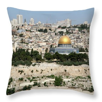 Jerusalem Skyline Throw Pillow